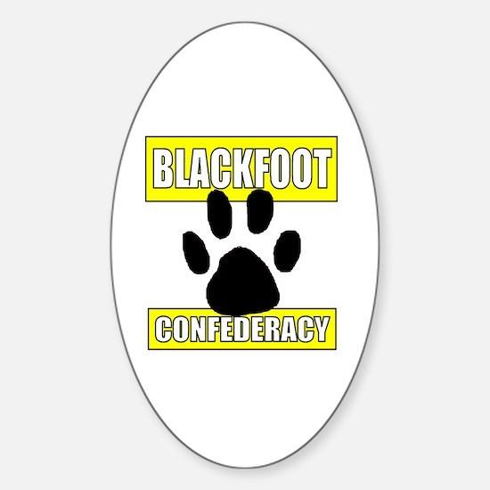 Cute Blackfeet indian Sticker (Oval)