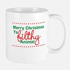 Merry Christmas Ya Filthy Animal Mugs