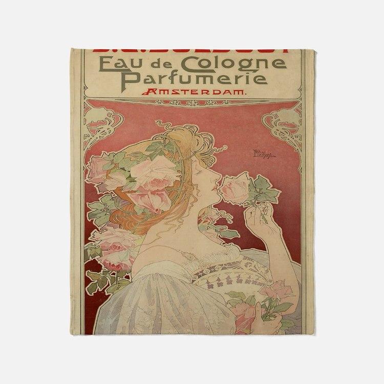 Cute Vintage advertisements Throw Blanket
