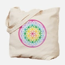 Flower of Life - Rainbow Tote Bag