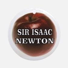 Cute Sir isaac newton Round Ornament