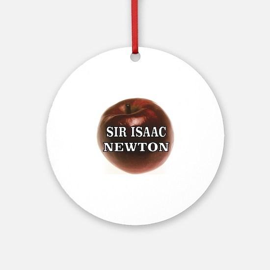 Cute Sir isaac newton Round Ornament