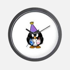 Happy Birthday Penguin Wall Clock