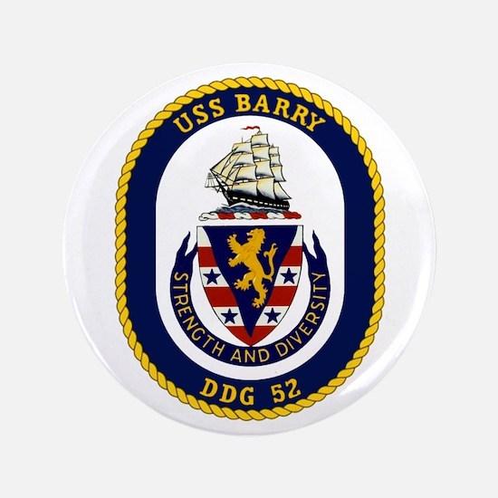 """USS Barry DDG 52 3.5"""" Button"""