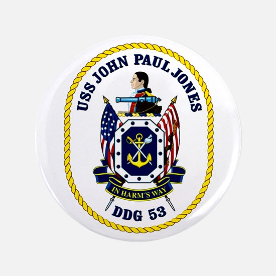 "Uss John Paul Jones DDG 53 3.5"" Button"