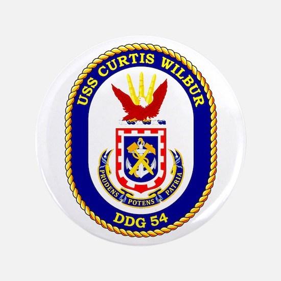 """USS Curtis Wilbur DDG 54 3.5"""" Button"""