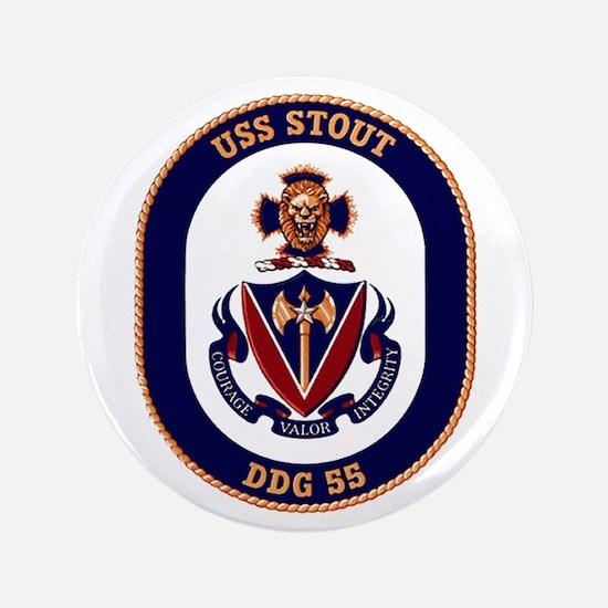 """USS Stout DDG 55 3.5"""" Button"""