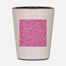Pink Glitter Print Shot Glass