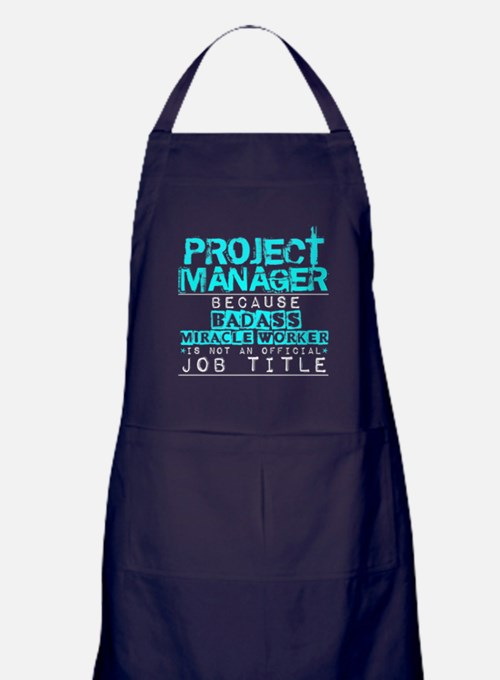 Cute Project manager Apron (dark)