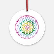 Flower of Life - Rainbow Ornament (Round)