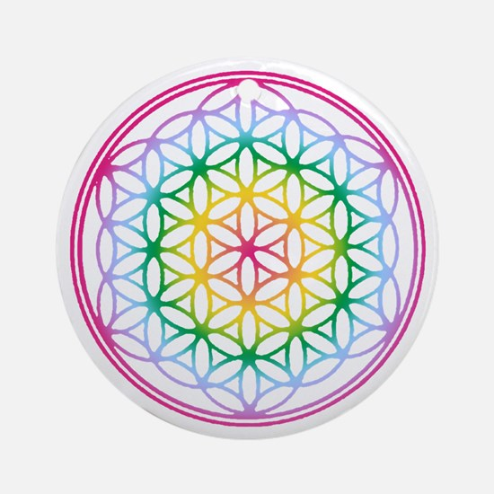 Flower of Life - Rainbow Ornament (Round)