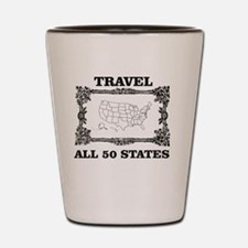 Cool 50 states Shot Glass