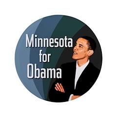 Minnesota for Obama Big Button