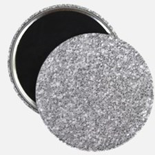 Silver Gray Glitter Texture Magnets
