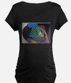 Checkerboard and Playing Cards b Maternity T-Shirt