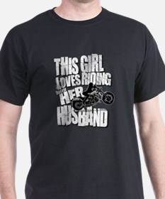 Girls Biker T Shirt T-Shirt