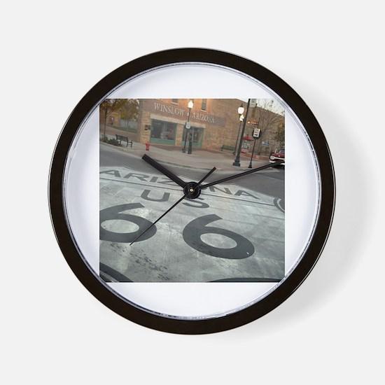 Cute Route 66 Wall Clock