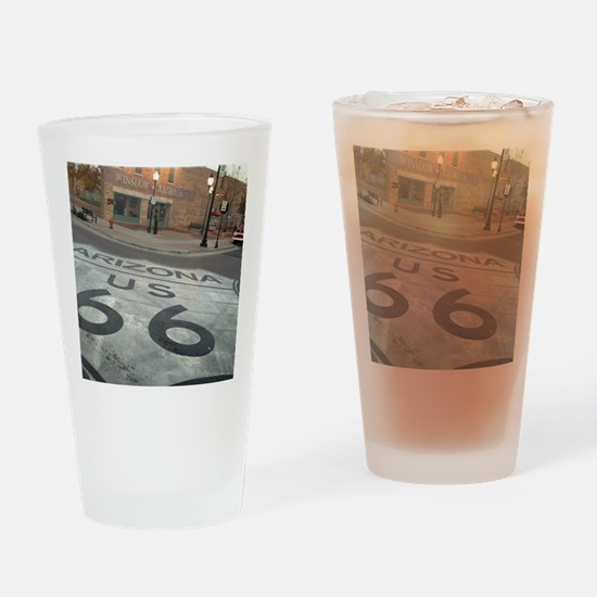 Unique Route Drinking Glass
