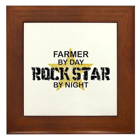 Farmer Rock Star Framed Tile