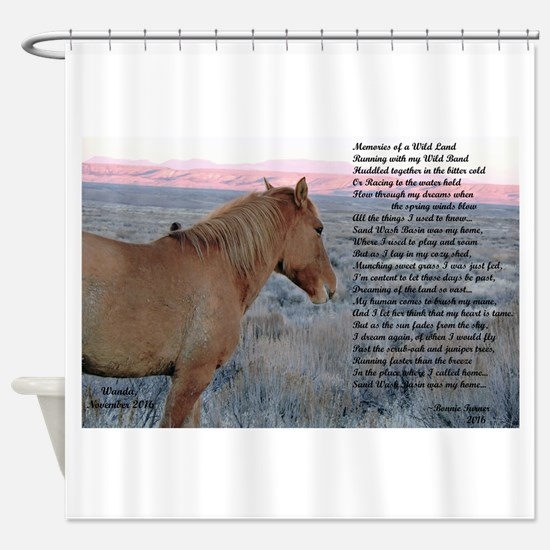 Memories of a WIld Land Shower Curtain
