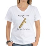 Changing The World Women's V-Neck T-Shirt