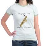 Changing The World Jr. Ringer T-Shirt