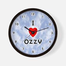 I Love Ozzy (Black) Valentine Wall Clock