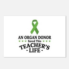 Organ Donor Saved Teacher Postcards (Package of 8)