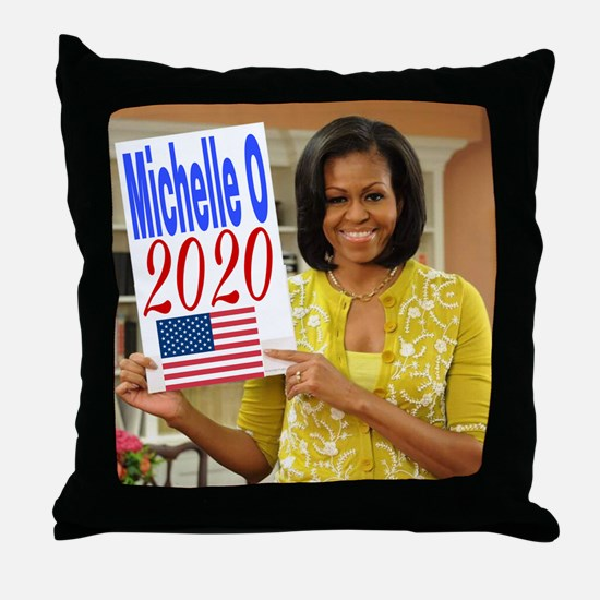 Cool Michelle obama Throw Pillow