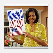 Funny Michelle obama Tile Coaster