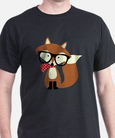 Holiday Hipster Brown Fox T-Shirt
