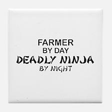 Farmer Deadly Ninja Tile Coaster