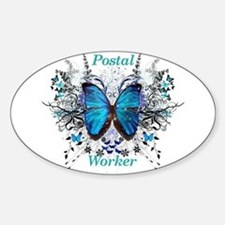 Postal Worker Butterfly Decal