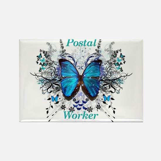 Postal Worker Butterfly Magnets