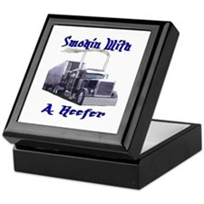 Smokin With A Reefer Keepsake Box