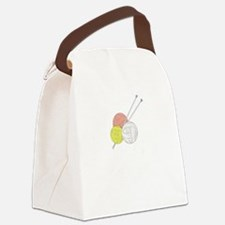 Cute Knit exercise Canvas Lunch Bag