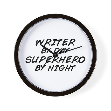 Writer Superhero Wall Clock