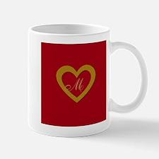 Cute Gold Red Sweet Heart Mugs