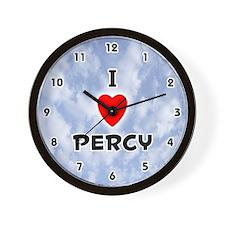 I Love Percy (Black) Valentine Wall Clock