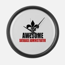 Awesome Database administrator Large Wall Clock