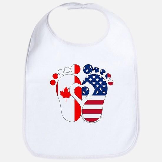Canadian American Baby Baby Bib