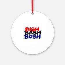 BISH BASH BOSH - RED BLACK BLUE Round Ornament