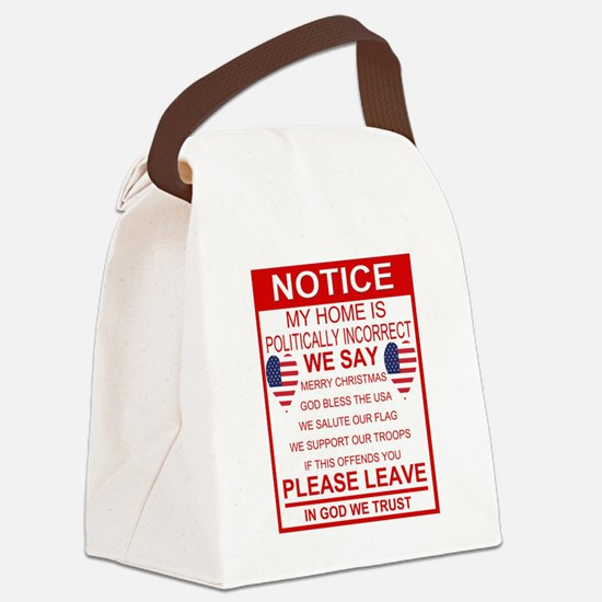 Funny Election Canvas Lunch Bag