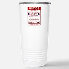 Politically Incorrect Stainless Steel Travel Mug