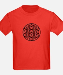 Flower of Life in Black T