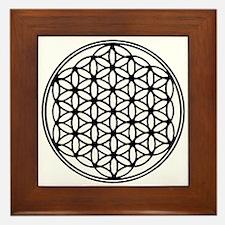 Flower of Life in Black Framed Tile