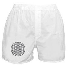 Flower of Life in Black Boxer Shorts