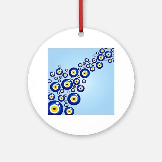 Evil eye protection pattern design Round Ornament