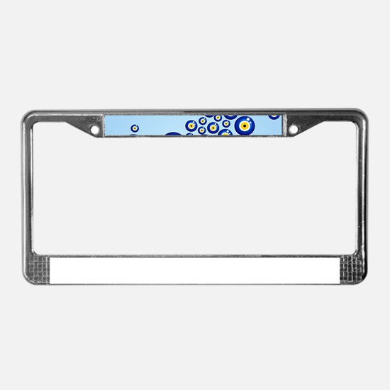 Evil eye protection pattern de License Plate Frame