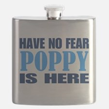 Have No Fear Poppy Is Here Flask